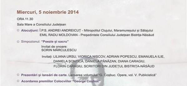 """Colocviile ,,George Coşbuc"""", ediţia a XXX-a"""
