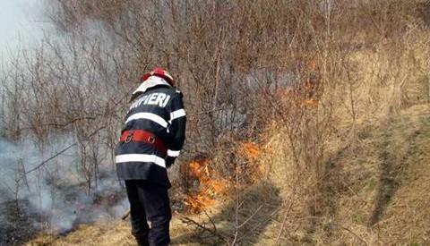 ISU Bistrița-Năsăud: Cele mai multe incendii de vegetație au loc la sfârșitul de săptămână
