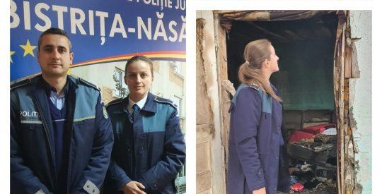 Intervenția polițiștilor a salvat viața a salvat viața unei familii din Teaca